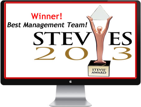 Stevie Award for Best Management Team!